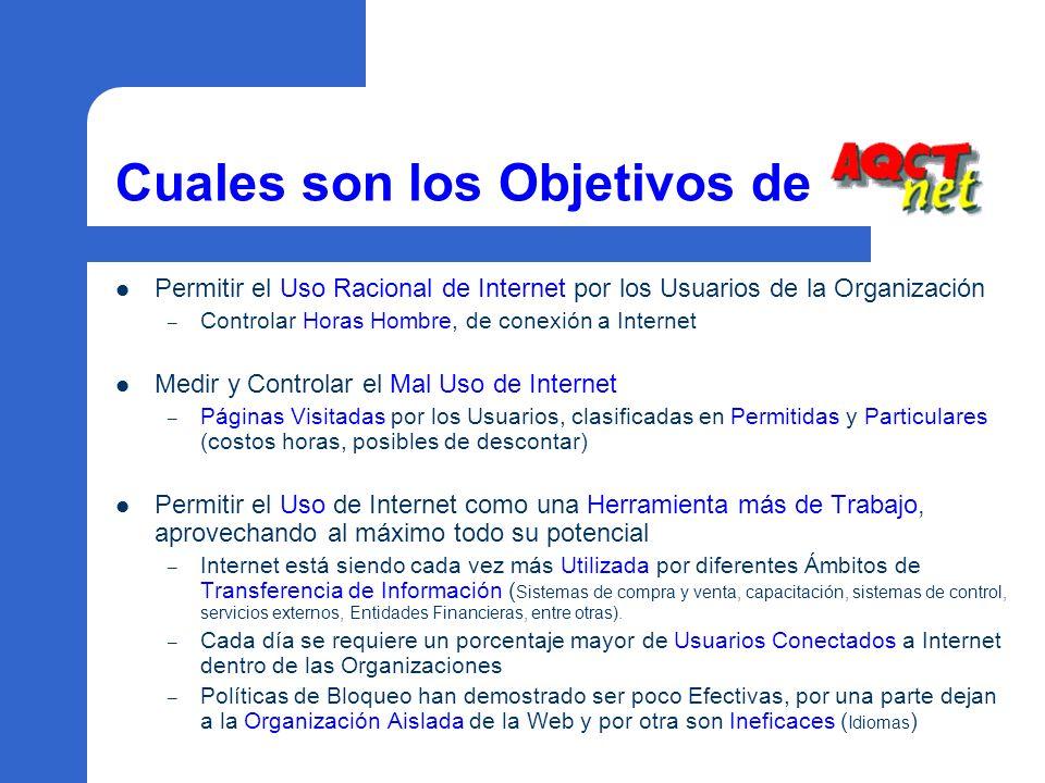 Cuales son los Objetivos de Permitir el Uso Racional de Internet por los Usuarios de la Organización – Controlar Horas Hombre, de conexión a Internet
