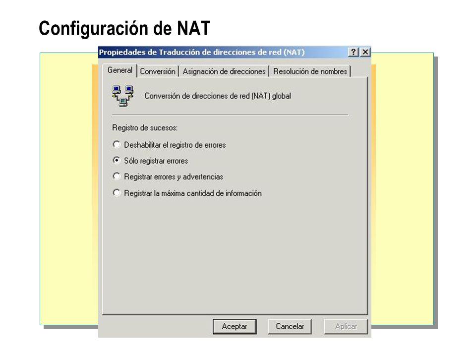 Configuración de NAT
