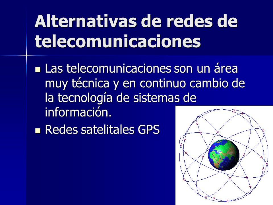 16 Alternativas de redes de telecomunicaciones Las telecomunicaciones son un área muy técnica y en continuo cambio de la tecnología de sistemas de inf