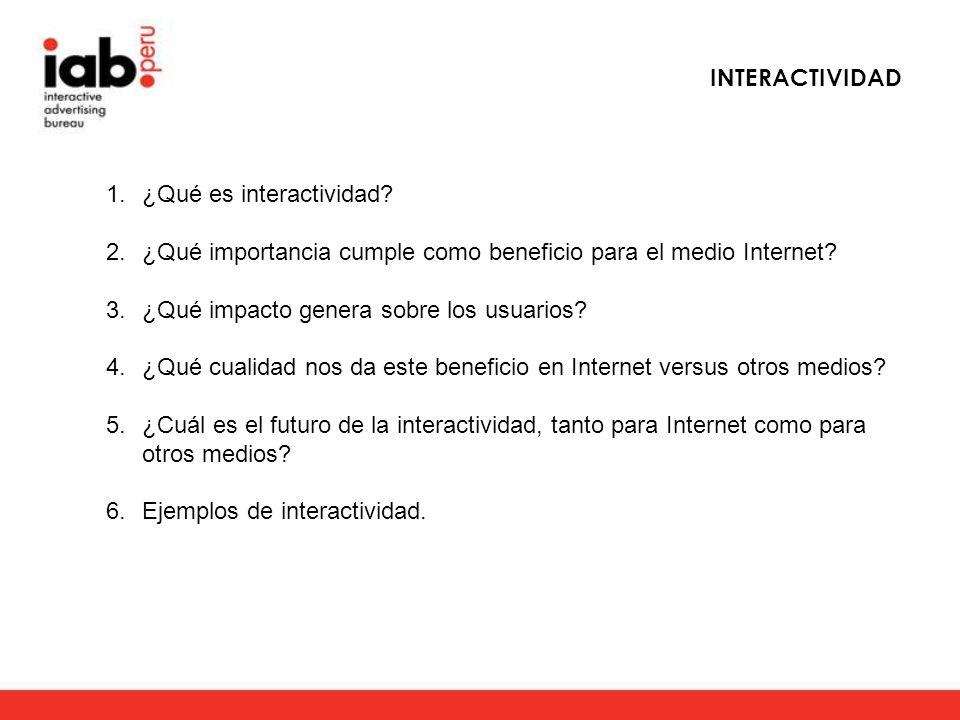 ¿Qué es interactividad.