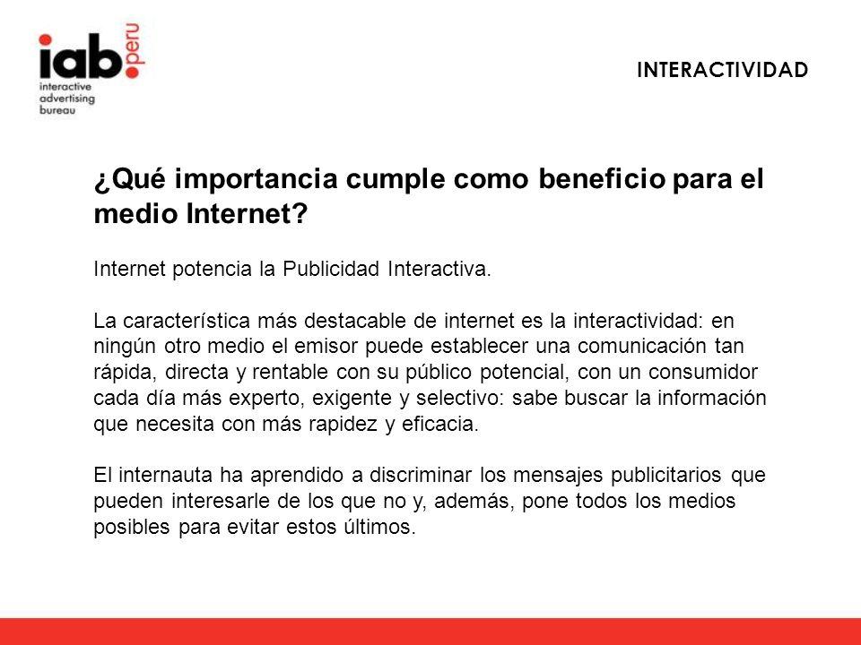 ¿Qué importancia cumple como beneficio para el medio Internet.