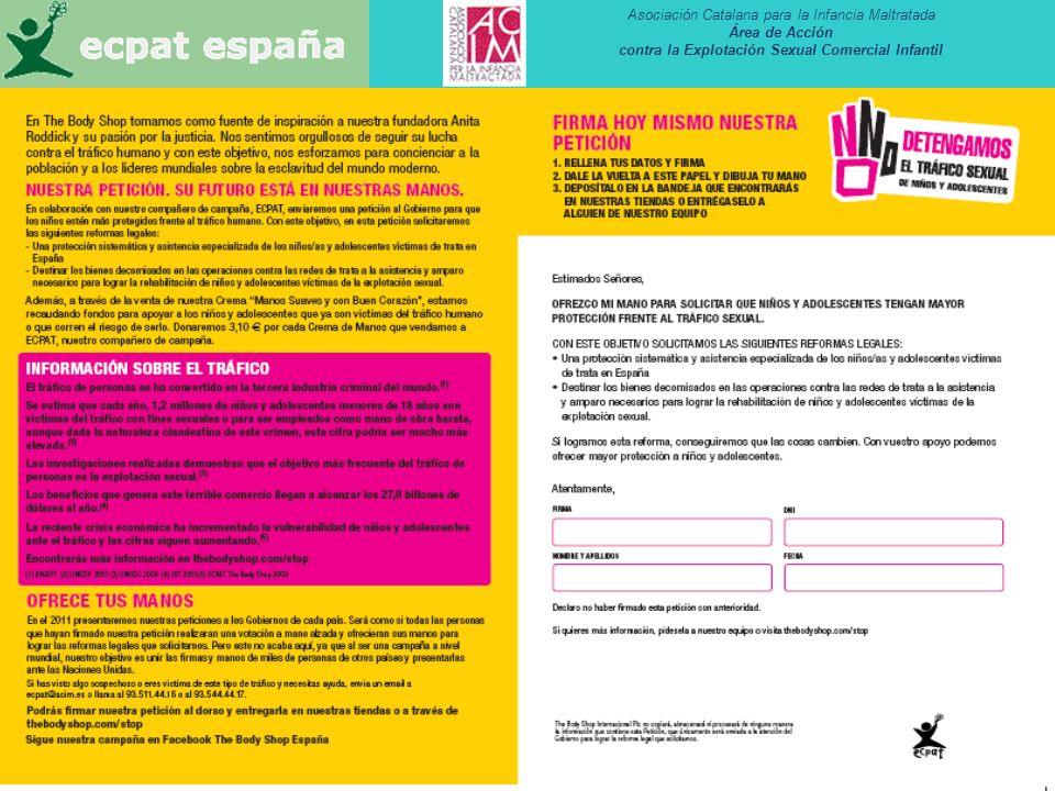 Asociación Catalana para la Infancia Maltratada Área de Acción contra la Explotación Sexual Comercial Infantil 40