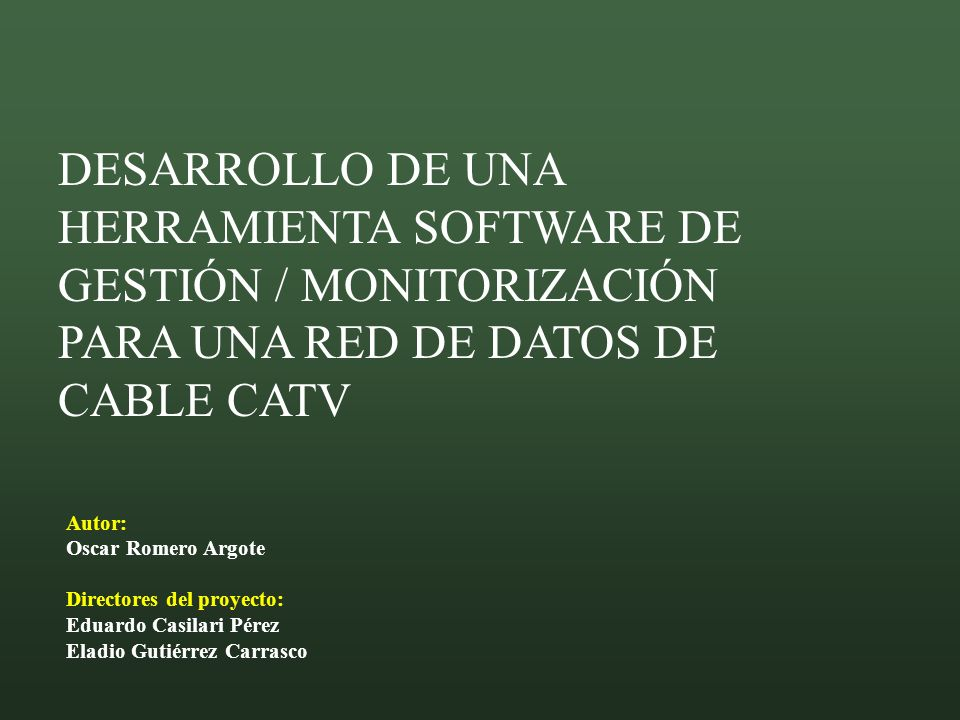 ESTRUCTURA DE LA PRESENTACIÓN Introducción y ubicación tecnológica.