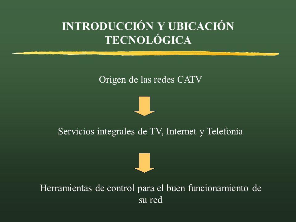 INTRODUCCIÓN Y UBICACIÓN TECNOLÓGICA Origen de las redes CATV Herramientas de control para el buen funcionamiento de su red Servicios integrales de TV