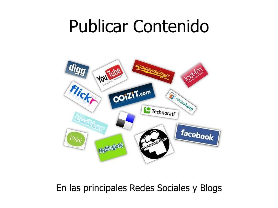 Publicar Contenido En las principales Redes Sociales y Blogs