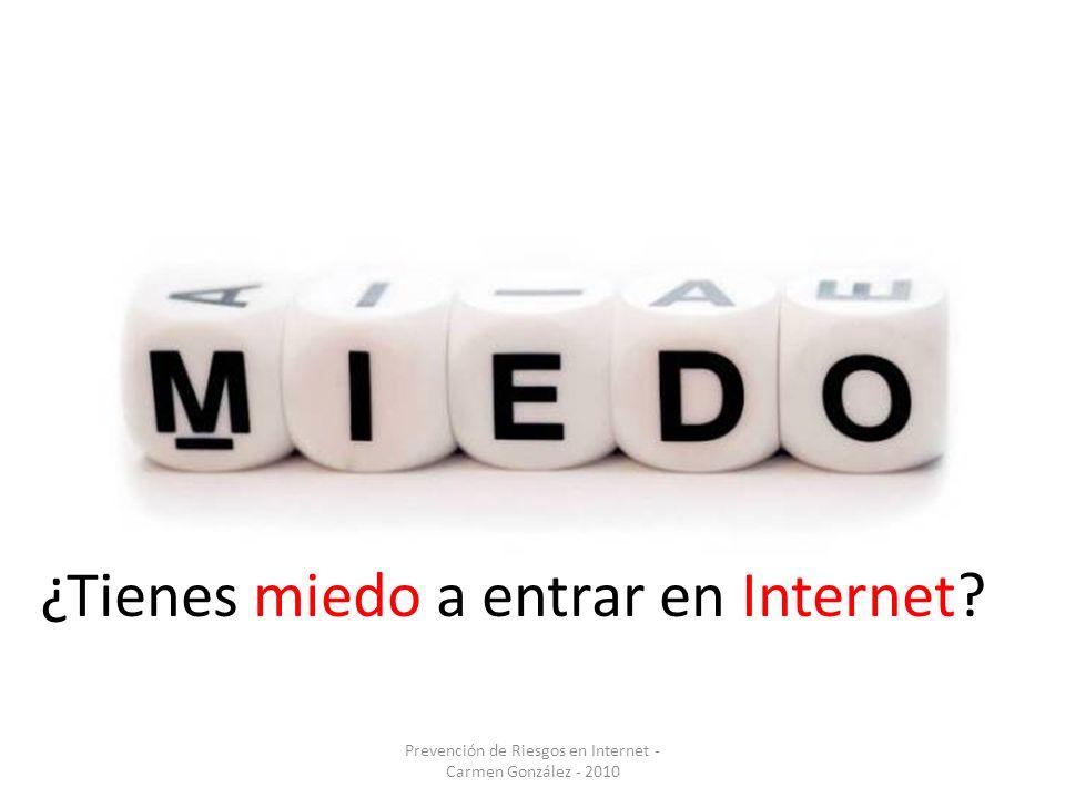 Prevención de Riesgos en Internet - Carmen González - 2010 ¿Tienes miedo a entrar en Internet?