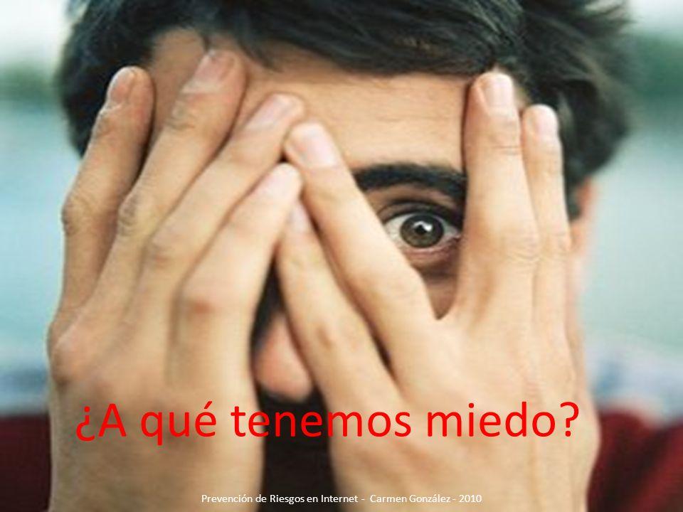 ¿A qué tenemos miedo? Prevención de Riesgos en Internet - Carmen González - 2010