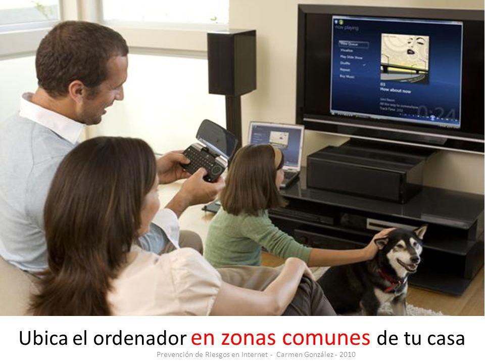Ubica el ordenador en zonas comunes de tu casa