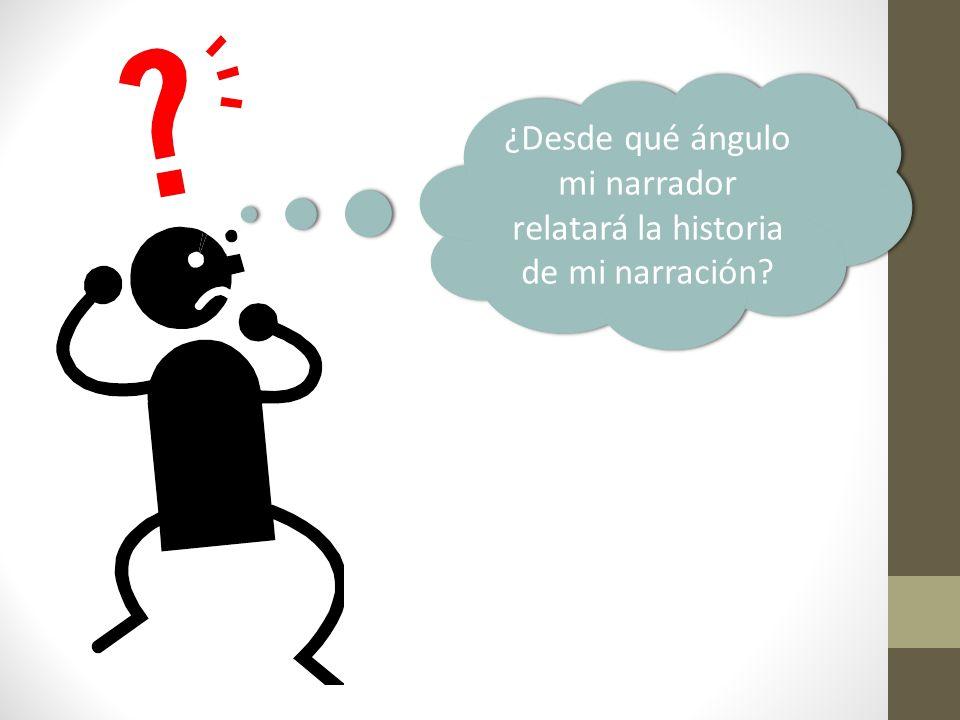 ¿Desde qué ángulo mi narrador relatará la historia de mi narración?