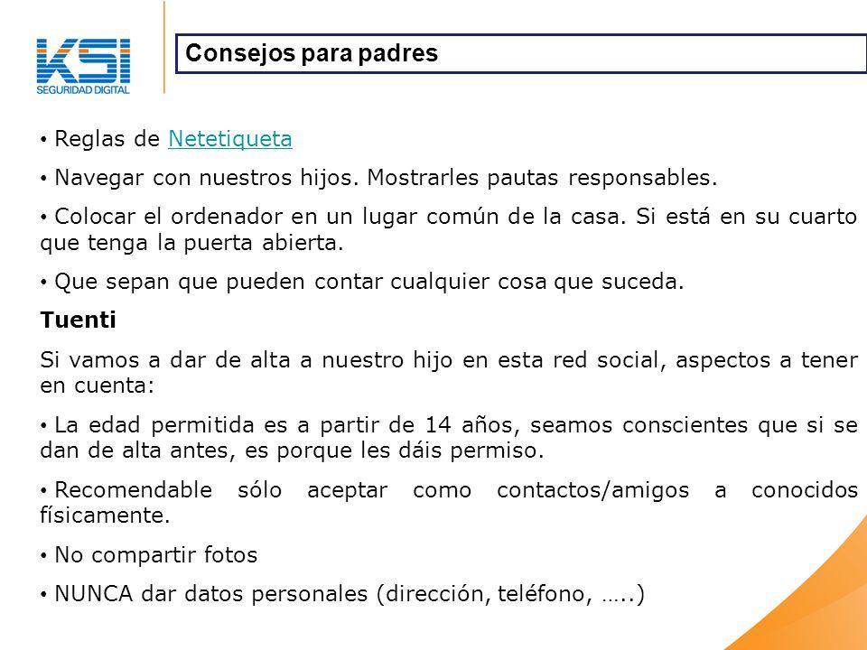 Reglas de NetetiquetaNetetiqueta Navegar con nuestros hijos.