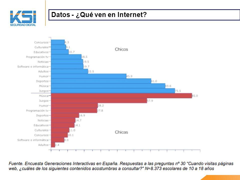 Datos - ¿Qué ven en Internet?