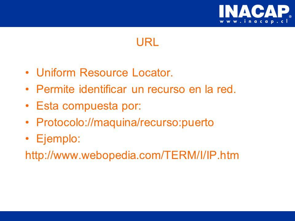 Servicio Web Requiere de un servidor web, que es un software que permite la publicación y administración de sitios web. Este servicio se identifica me