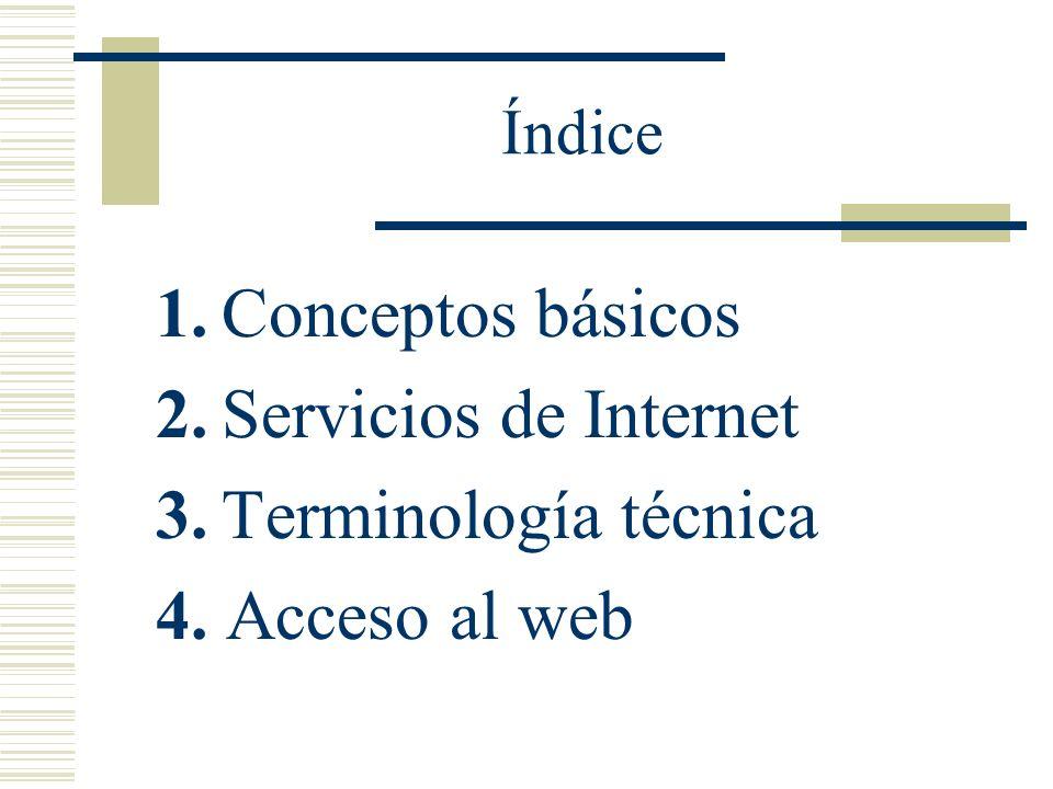 Acceso al Web Sitio Web (Web Site): Conjunto de páginas relacionadas en contenido y pertenecientes a un mismo creador.