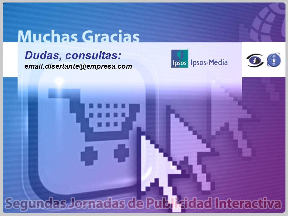 Dudas, consultas: email.disertante@empresa.com