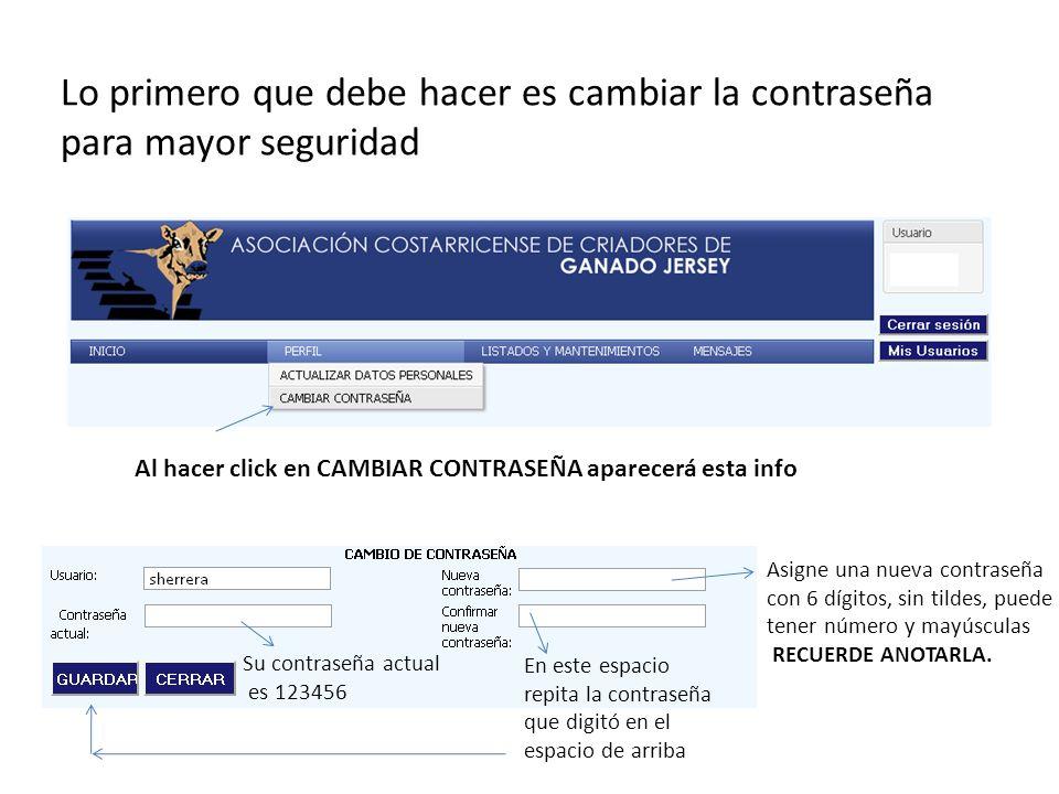 en FINCA hay que escoger la 3000 que es ASOCIACIÓN COST. DE CRIADORES DE GANADO JERSEY
