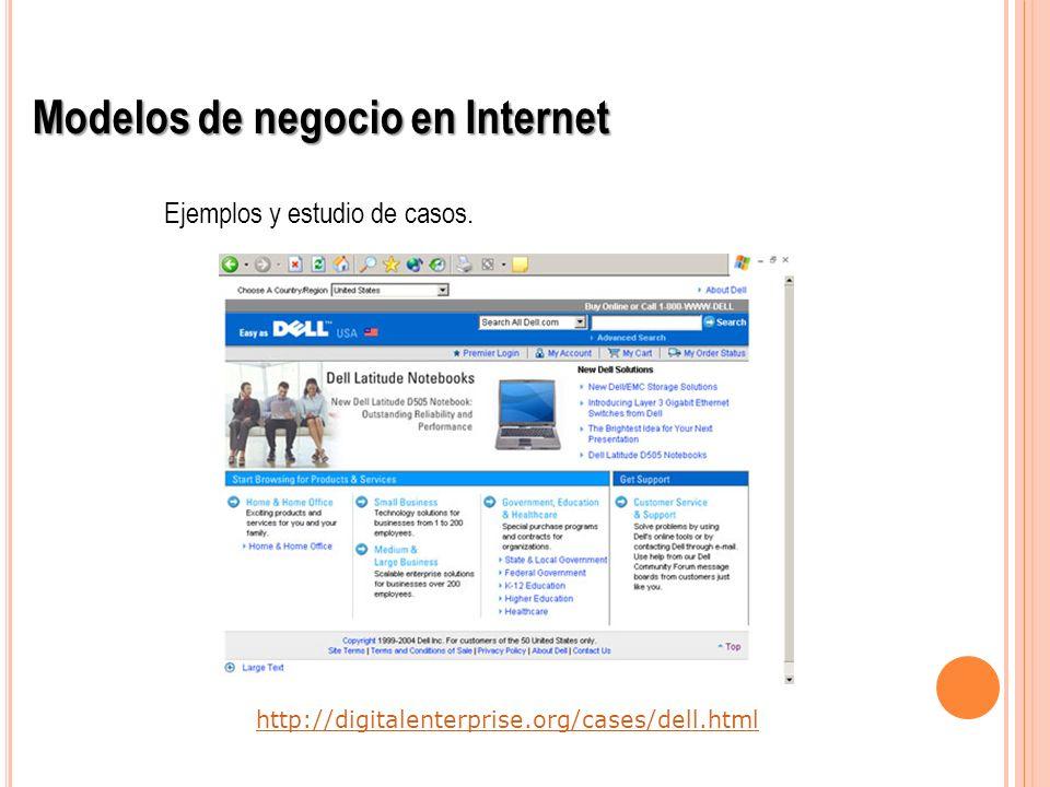 http://digitalenterprise.org/cases/dell.html Modelos de negocio en Internet Ejemplos y estudio de casos.