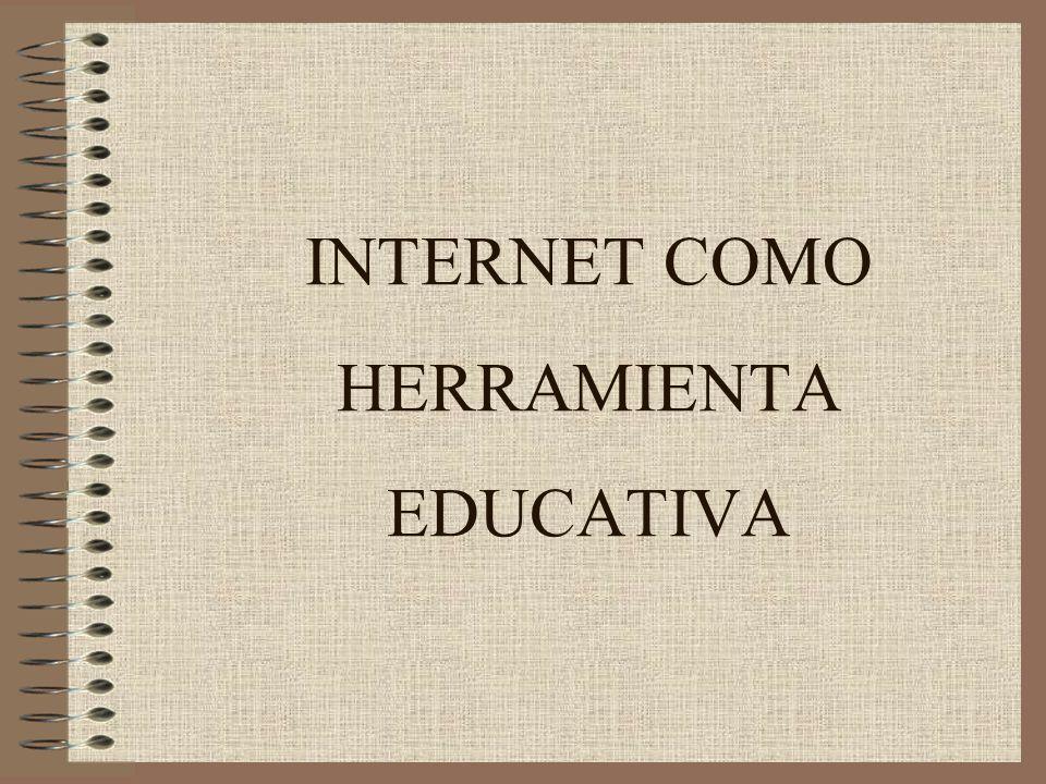 INTERNET COMO HERRAMIENTA EDUCATIVA
