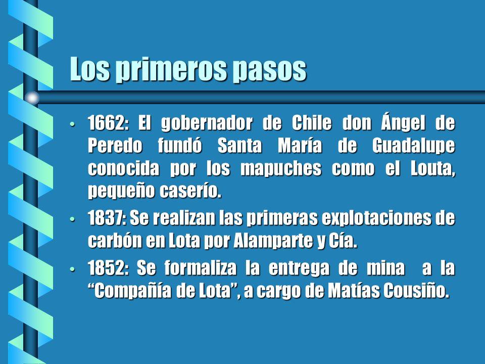 Los primeros pasos 1662: El gobernador de Chile don Ángel de Peredo fundó Santa María de Guadalupe conocida por los mapuches como el Louta, pequeño ca