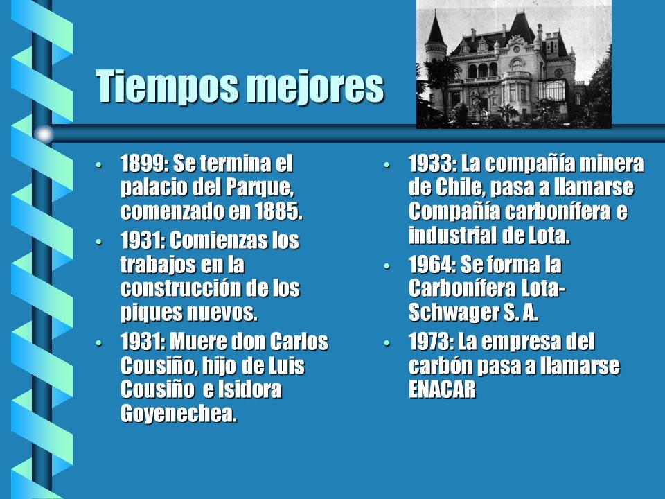 Periodo de crisis 1980: De esta fecha en adelante, el carbón es la principal fuente laboral de la gente de Lota.
