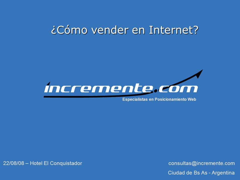 2 Presentación Emanuel Francucci Emanuel Francucci Esteban Cervi Esteban Cervi Incremente.com Incremente.com http://www.incremente.com - ¿Cómo vender en Internet?