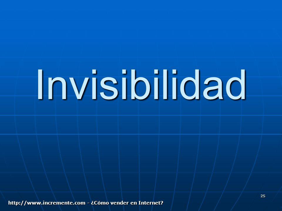25 Invisibilidad