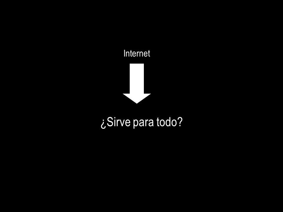 Internet ¿Sirve para todo?