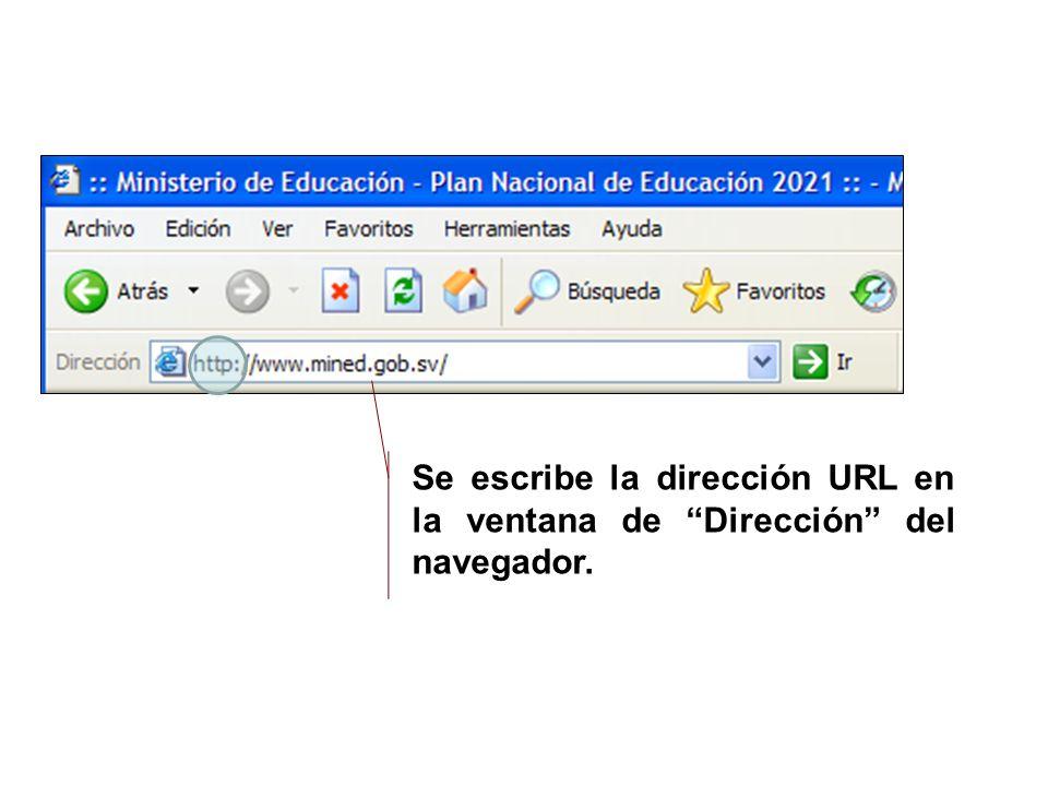 ¿cómo se utiliza el HIPERTEXTO? Se escribe la dirección URL en la ventana de Dirección del navegador.