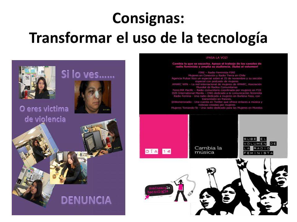 Consignas: Transformar el uso de la tecnología