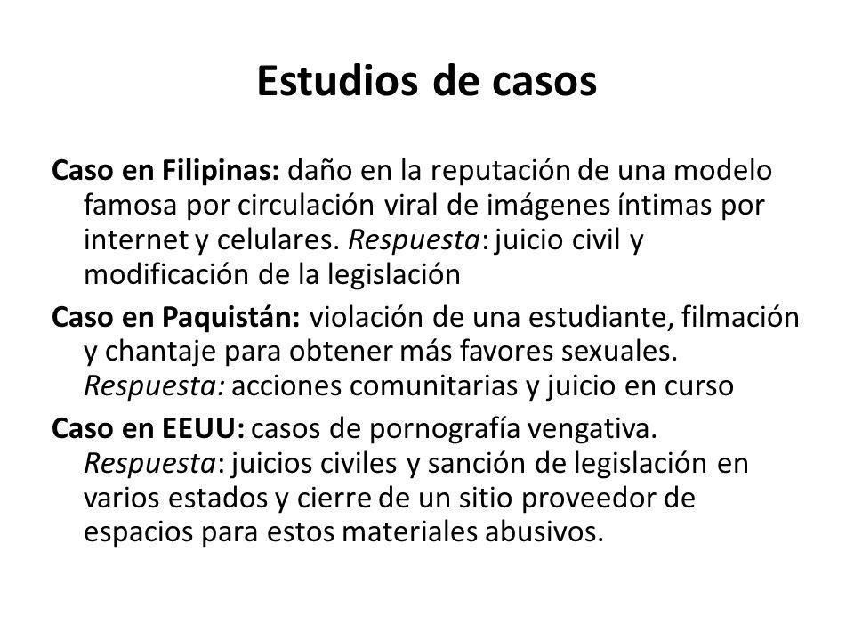 Estudios de casos Caso en Filipinas: daño en la reputación de una modelo famosa por circulación viral de imágenes íntimas por internet y celulares.