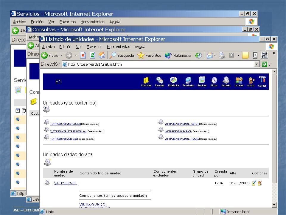 JMJ – Eliza GMRC Elementos Vocabulario de Eliza GMRC Vocabulario de Eliza GMRC Servicios: son lo que ofrecemos a los usuarios; programas, internet… Se