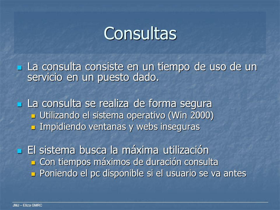 JMJ – Eliza GMRC Consultas La consulta consiste en un tiempo de uso de un servicio en un puesto dado. La consulta consiste en un tiempo de uso de un s