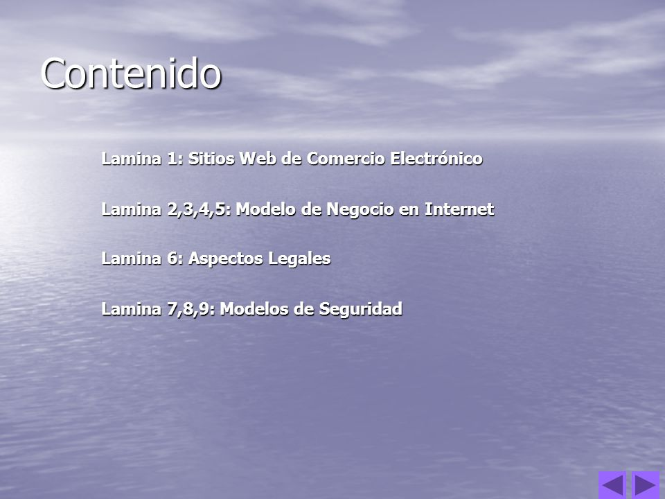 Contenido Lamina 1: Sitios Web de Comercio Electrónico Lamina 1: Sitios Web de Comercio Electrónico Lamina 2,3,4,5: Modelo de Negocio en Internet Lami