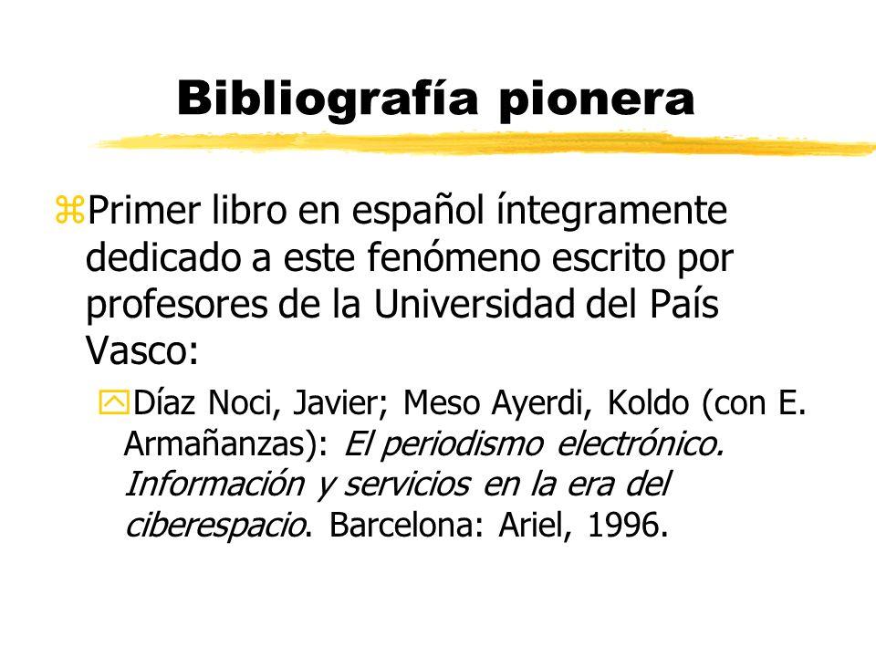El periodismo digital en la Universidad del País Vasco Javier Díaz Noci Congreso Nacional de Periodismo Digital