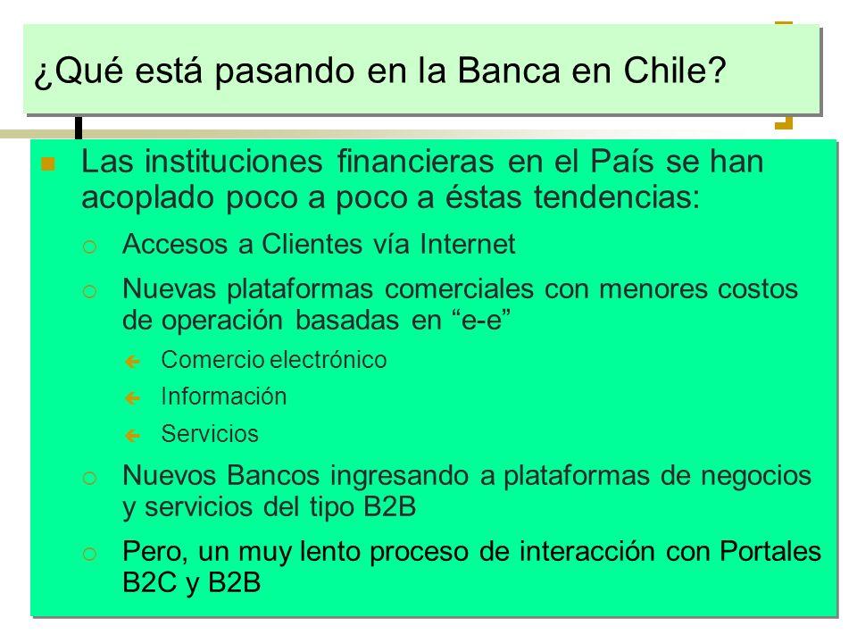 ¿Qué está pasando en la Banca en Chile? Las instituciones financieras en el País se han acoplado poco a poco a éstas tendencias: Accesos a Clientes ví