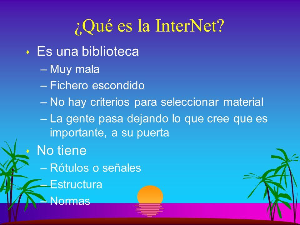 ¿Qué es la InterNet.