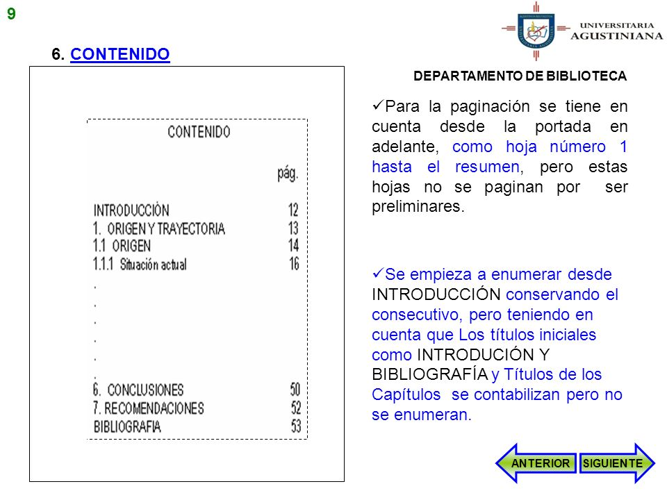 EJEMPLOS PRESENTACIÓN CRÉDITOS UNIVERSITARIOS Pregrado presencial los créditos universitarios (información relacionada en la parte inferior de la carátula, portada y contraportada va: SIGUIENTE 40 DEPARTAMENTO DE BIBLIOTECA UNIVERSITARIA AGUSTINIANA ESCUELA DE XXXXXXXX PROGRAMA DE XXXXXXXX BOGOTA 2010
