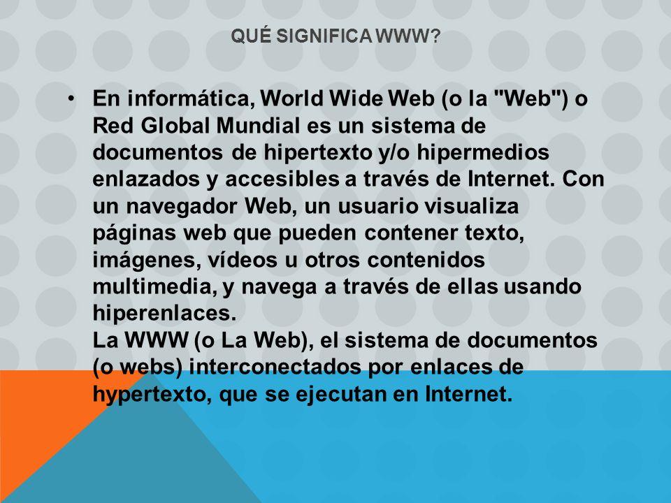 QUÉ SIGNIFICA WWW.