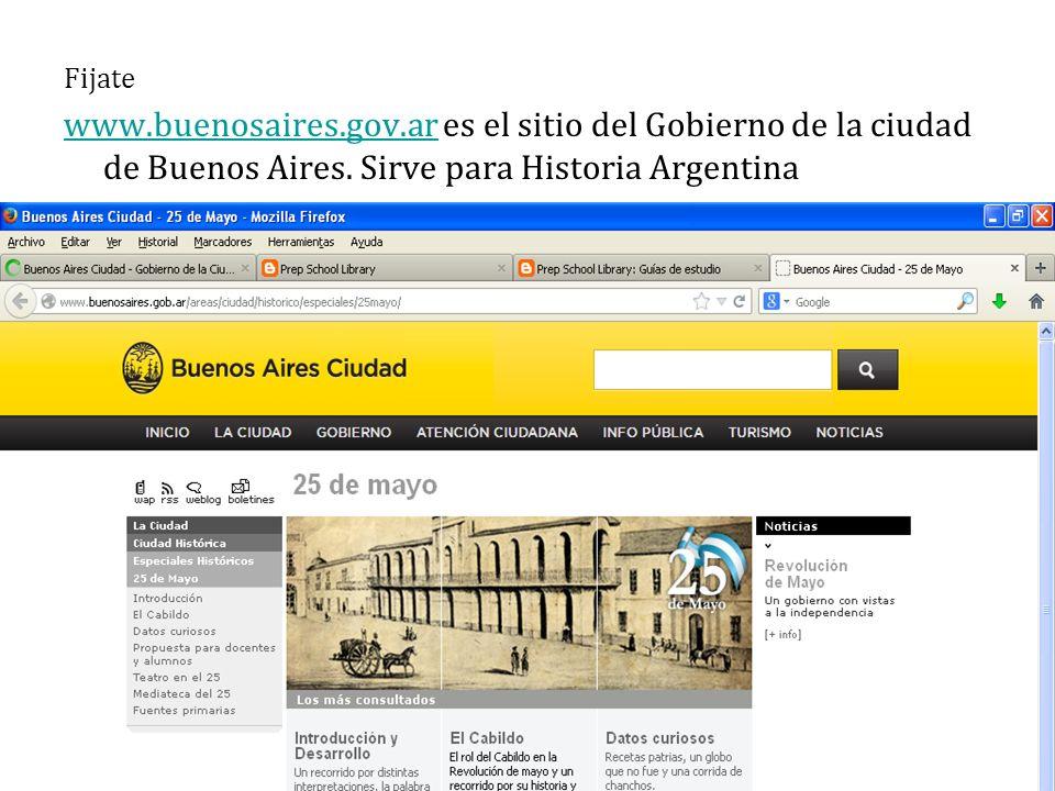 Fijate www.buenosaires.gov.arwww.buenosaires.gov.ar es el sitio del Gobierno de la ciudad de Buenos Aires.
