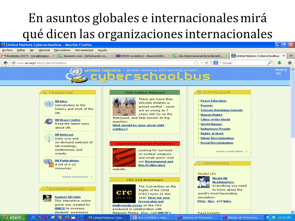 En asuntos globales e internacionales mirá qué dicen las organizaciones internacionales
