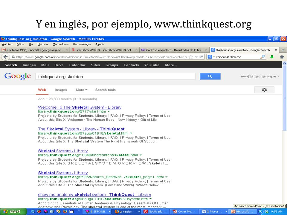 Y en inglés, por ejemplo, www.thinkquest.org
