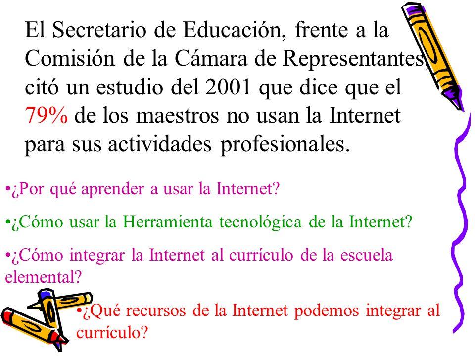 Enriquecimiento del currículo http://netdial.caribe.net/~avelazco/index.htm Programa de Educación en Recursos Acuaticos, Puerto Rico.