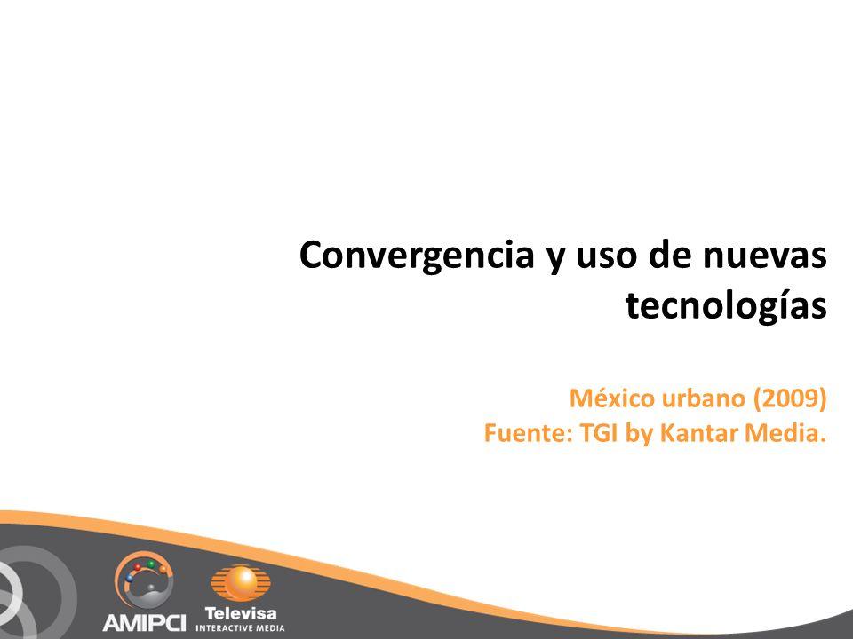 Convergencia y uso de nuevas tecnologías México urbano (2009) Fuente: TGI by Kantar Media.