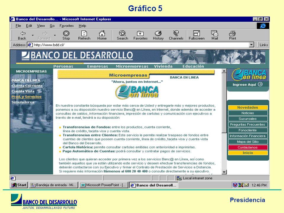 JUNTOS, DESARROLLANDO FUTURO Presidencia Gráfico 5