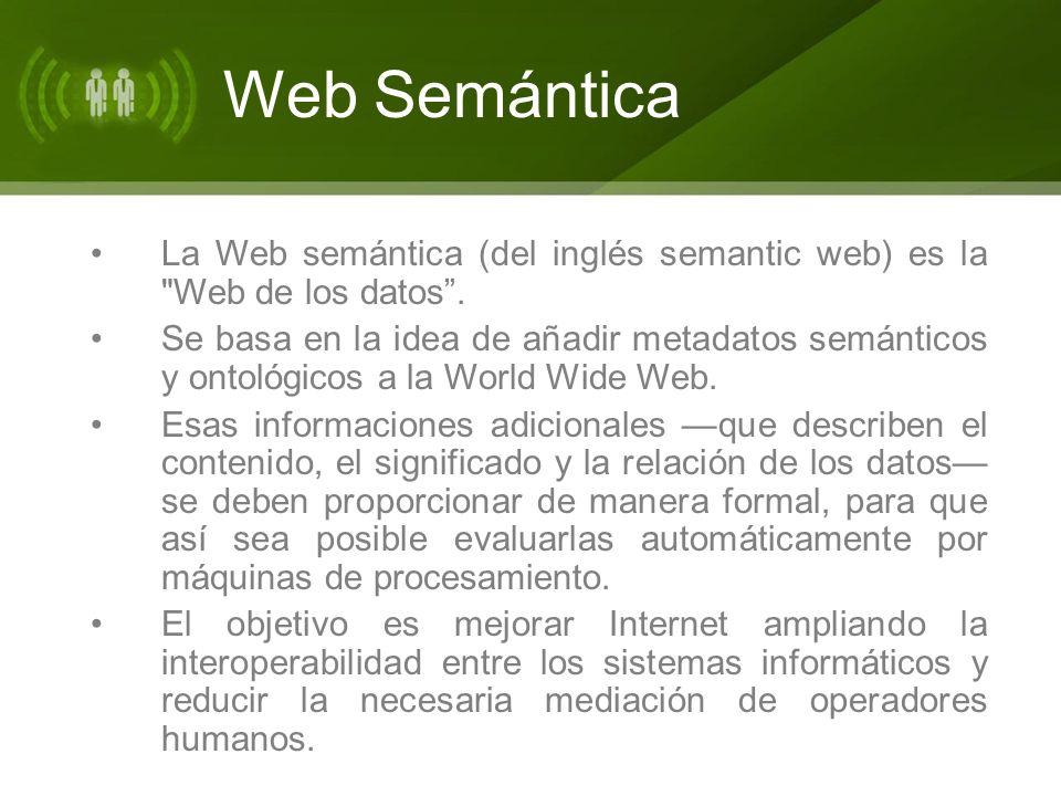 La Web semántica (del inglés semantic web) es la Web de los datos.