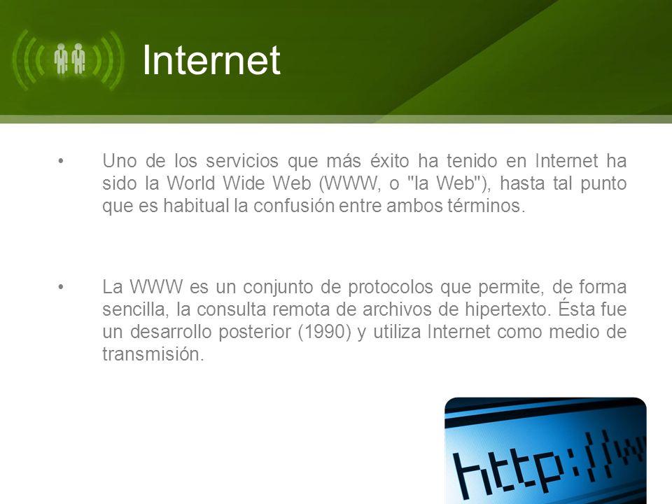 Internet Existen, por tanto, muchos otros servicios y protocolos en Internet, aparte de la Web: el envío de correo electrónico (SMTP), la transmisión de archivos (FTP y P2P), las conversaciones en línea (IRC), la mensajería instantánea y presencia, la transmisión de contenido y comunicación multimedia - telefonía (VoIP), televisión (IPTV)-, los boletines electrónicos (NNTP), el acceso remoto a otras máquinas (SSH y Telnet) o los juegos en línea.