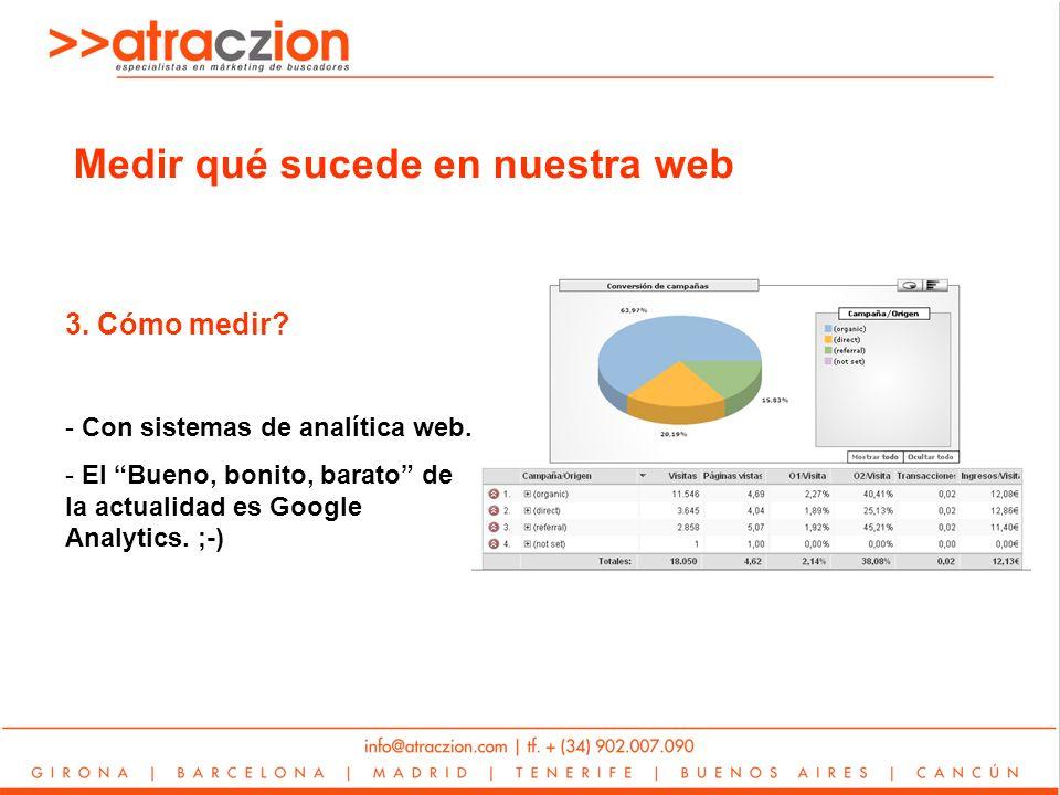 3. Cómo medir. - Con sistemas de analítica web.