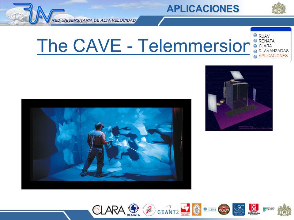 The CAVE - Telemmersion APLICACIONES RUAV RENATA CLARA R. AVANZADAS APLICACIONES
