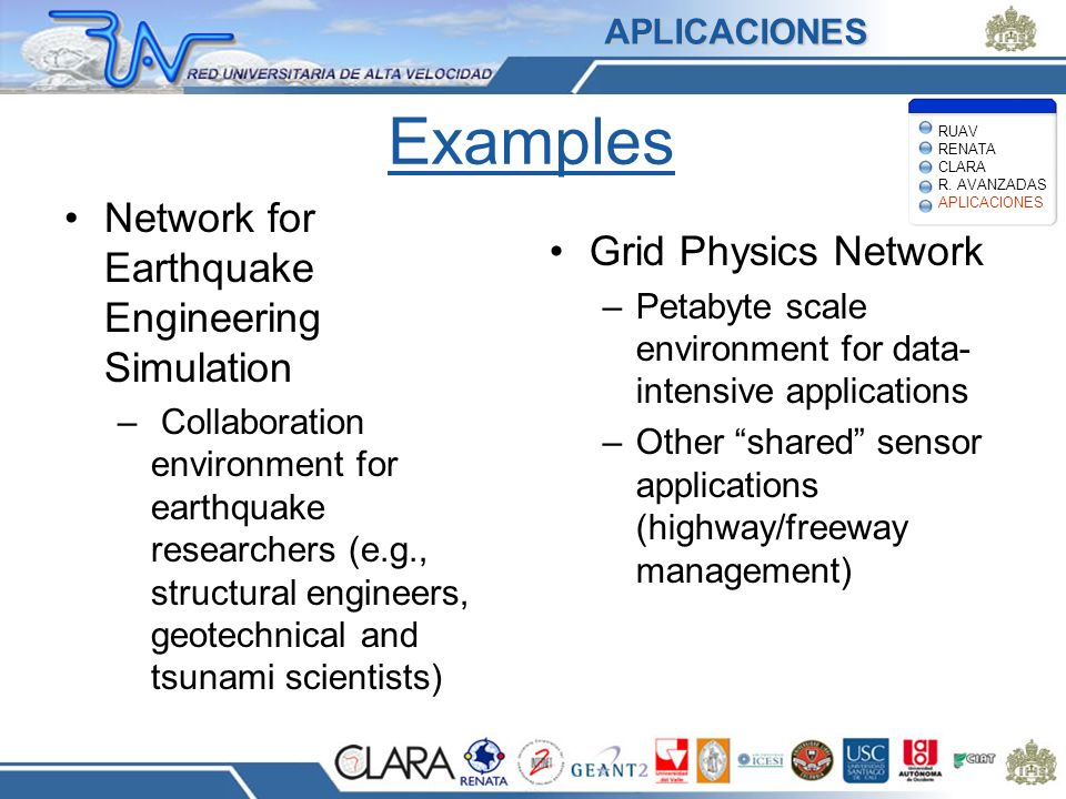 Examples Network for Earthquake Engineering Simulation – Collaboration environment for earthquake researchers (e.g., structural engineers, geotechnica