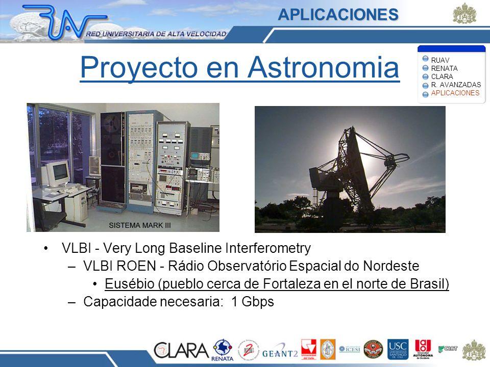 Proyecto en Astronomia VLBI - Very Long Baseline Interferometry –VLBI ROEN - Rádio Observatório Espacial do Nordeste Eusébio (pueblo cerca de Fortalez