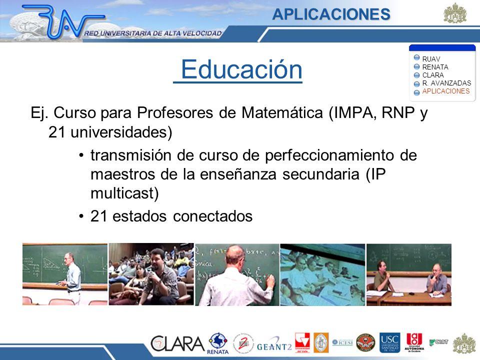 Educación Ej. Curso para Profesores de Matemática (IMPA, RNP y 21 universidades) transmisión de curso de perfeccionamiento de maestros de la enseñanza